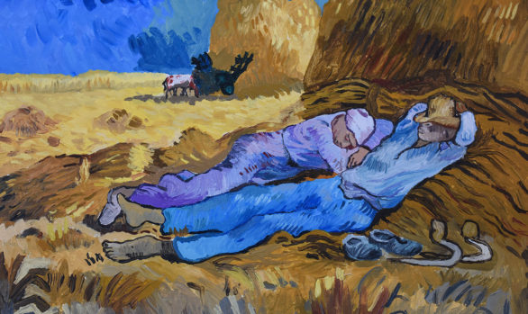 Noon Rest from Work - Ode to Van Gogh